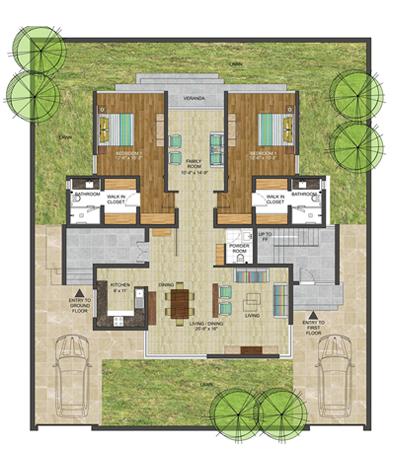 Palms Valley Riverdale, Villa Floor Plan, 5 bedrooms retirment home